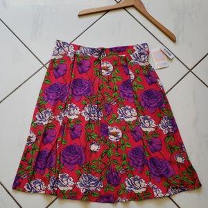Lularoe 💜 BNWT Madison Pleated Skirt Floral Roses